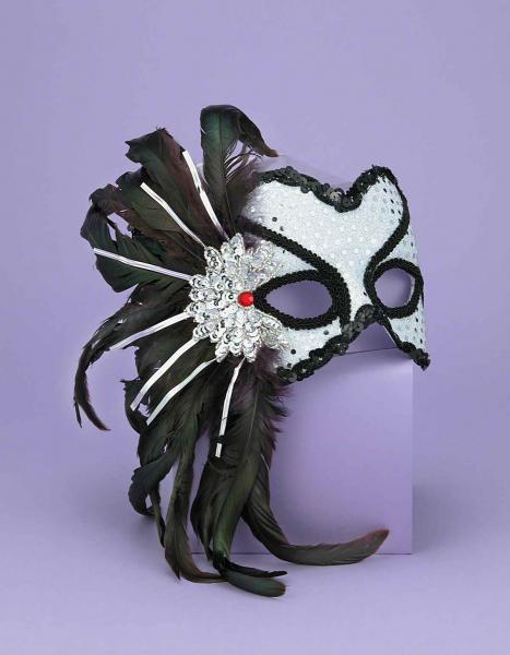 Half Mask Karneval Silver O/S