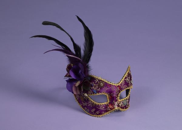 Mask Purple Eyeglass Frame O/S