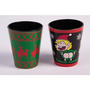 Christmas X-Rated Shot Glasses 4 Pieces