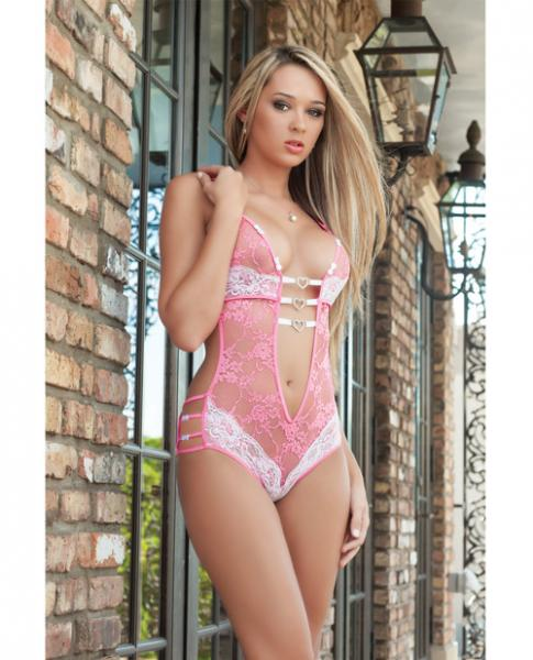 Play & Tease Teddy Pink Lace Love