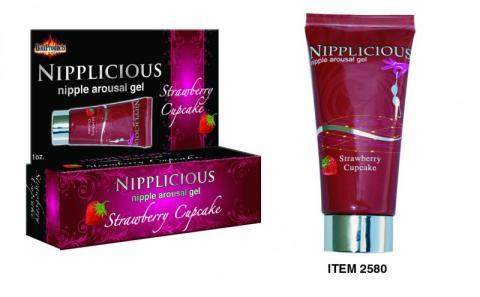 Nipplicious Nipple Arousal Gel Strawberry Cupcake 1 Ounce