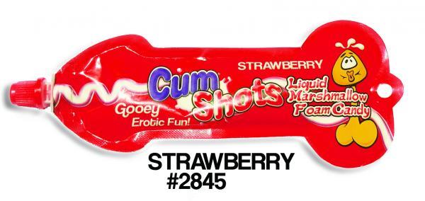 Cum Shots Marshmallow Foam Candy Strawberry