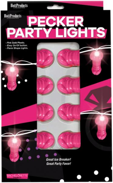 Light Up Pink Pecker String Party Lights