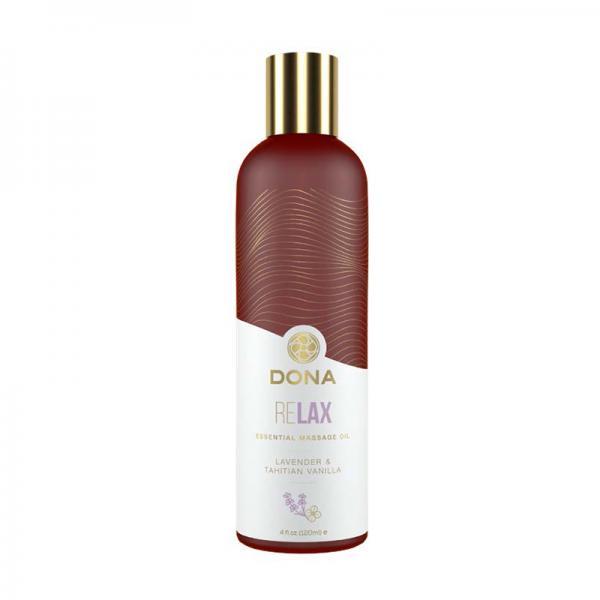 Dona Essential Massage Oil Relax Lavender & Tahitian Vanilla 4oz