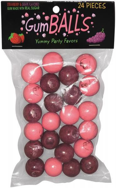 Printed Gumball Testies Strawberry, Grape 24 Pieces