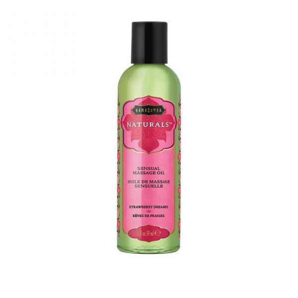 Naturals Massage Oil Strawberry 2oz