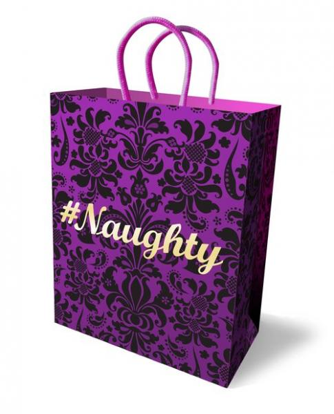 #Naughty Gift Bag Purple 10 inches