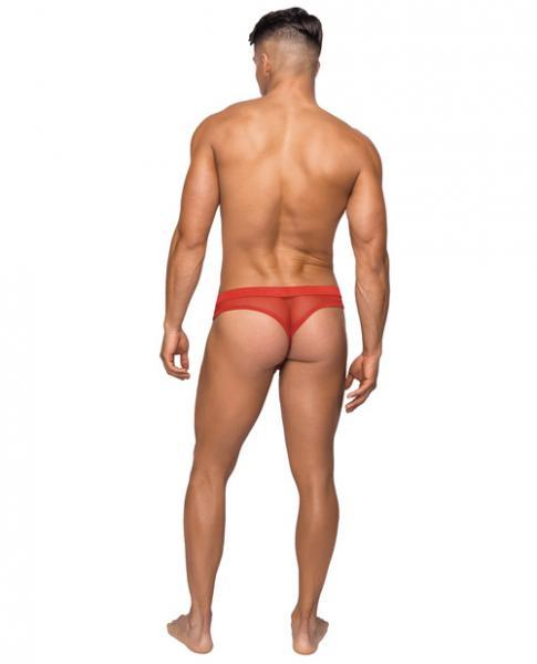 Male Power Hoser Hose Low Rise Thong Red S/M Underwear