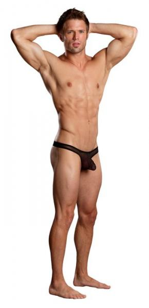 Euro Male Mesh Thong Black S/M