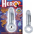 Hero Cockring and Clit Massager Clear Sex Toy Product