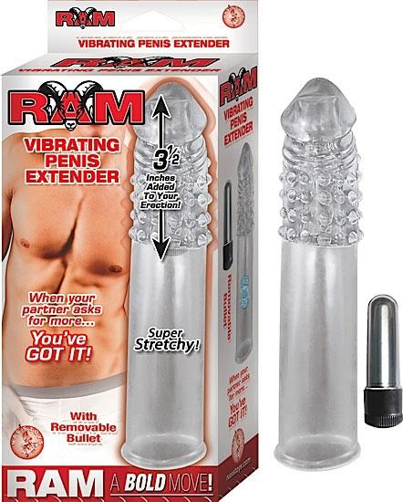 Vibrating Penis Extender Clear