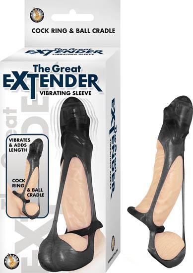 The Great Extender Vibrating Sleeve Black