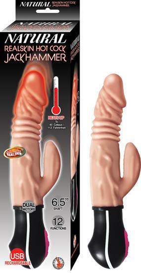 Natural Realskin Hot Cock Jackhammer Vibrator