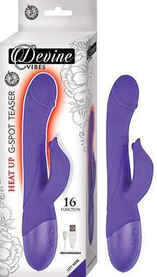 Devine Vibes Heat-Up G-Spot Teaser Purple Vibrator