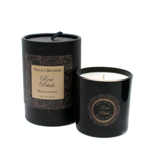 Olivia's Boudoir Massage Candle Rose Petals 6.5oz