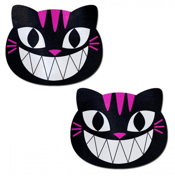 Pastease Black & Pink Cheshire Kitty Cat Pasties