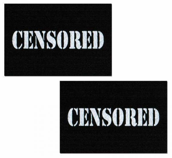 Censored Bar Black Pasties O/S