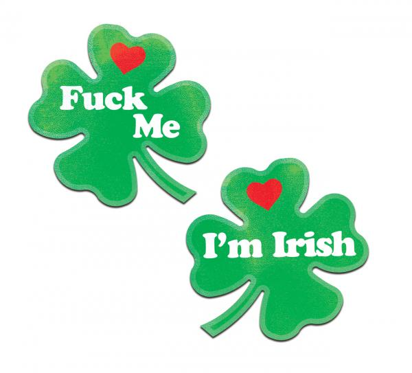 Pastease Clover Fuck Me I'm Irish Nipple Pasties