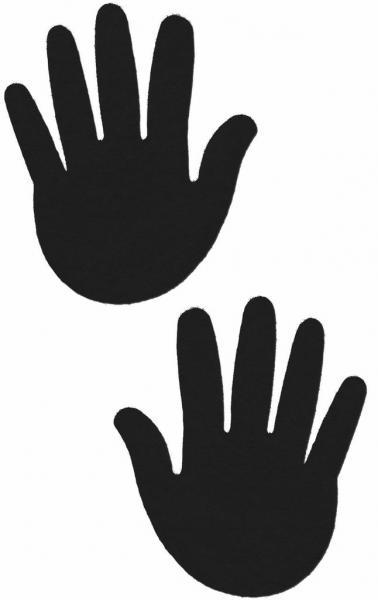 Hands Black Pasties O/S