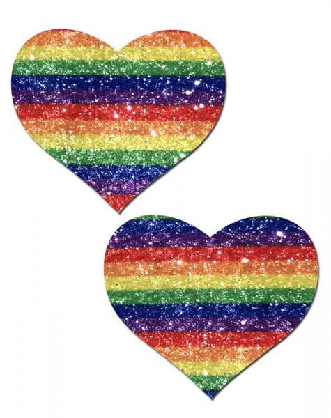 Pastease Glitter Rainbow Heart Pasties