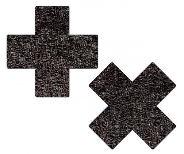 Tease Plus X Liquid Black Cross Pasties
