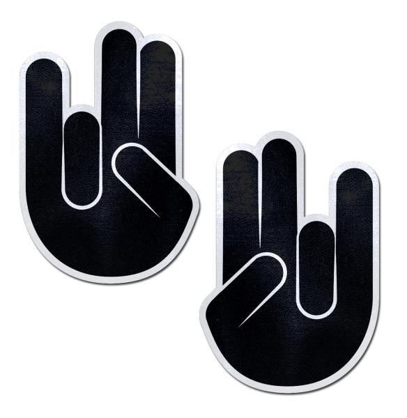 Pastease Black Shocker Hand Nipple Pasties