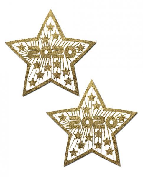 Happy New Years 2020 Gold Stars Pasties O/S