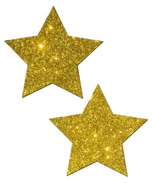 Gold Glitter Rock Star Pasties O/S