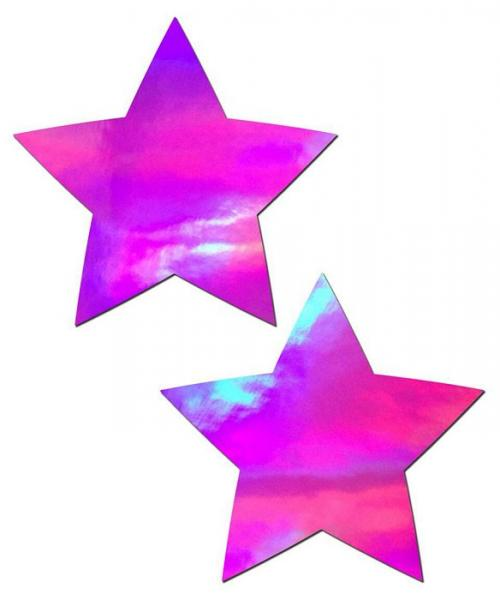 Pastease Holographic Star Pink Pasties O/S
