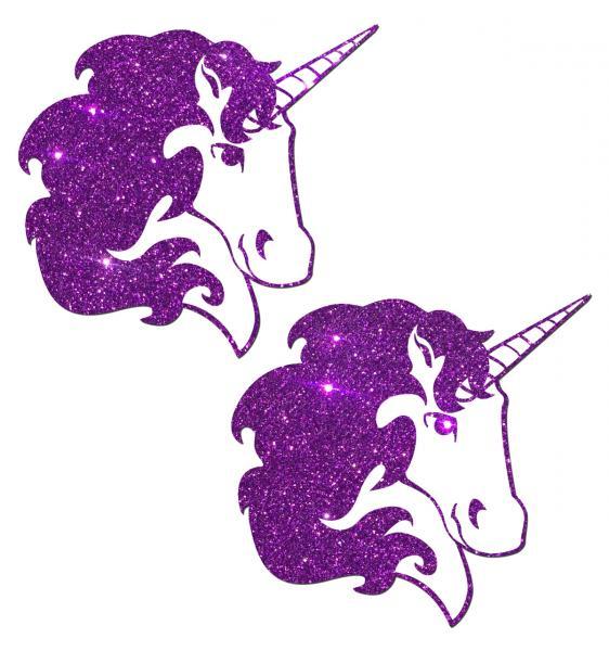 Unicorn Purple Glitter Pasties O/S