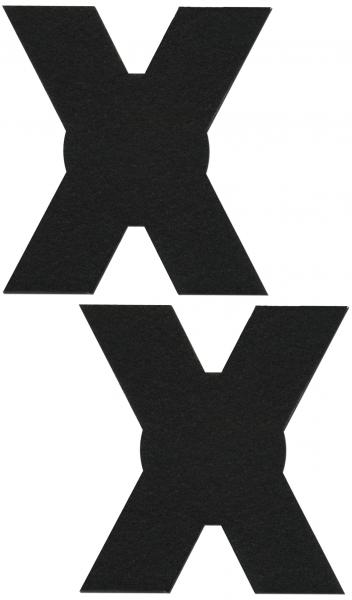 X Black Pasties O/S