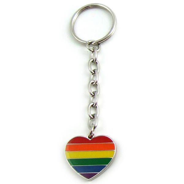 Gaysentials Rainbow Heart Key Tag