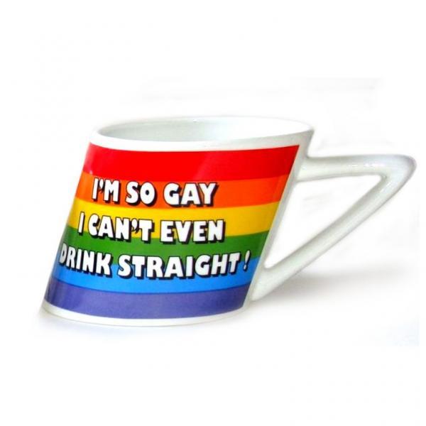 Slanted Rainbow Mug