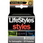 Lifestyles Styles Sensitive Collection Condoms 3 Pack Sex Toy Product
