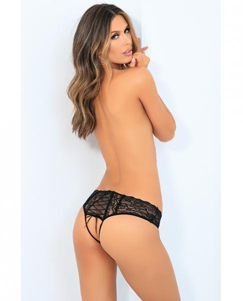 Rene Rofe All Tied Up Open Back Panty Black M/L