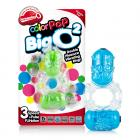 Color Pop Big O2 Double Ring Assorted Colors Sex Toy Product