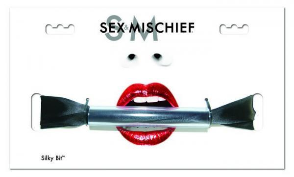Sex & Mischief Silky Bit Gag Black