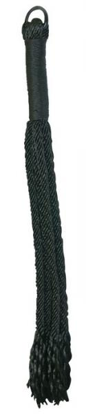 Sex and Mischief Shadow Rope Flogger Black