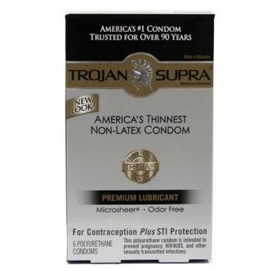 Trojan Supra Lubricated 6Pc Sex Toy Product