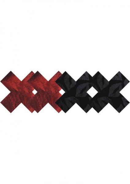 Stolen Kisses X Pasties Red, Black 2 Pack