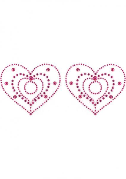 Crystal Heart Pink Pasties