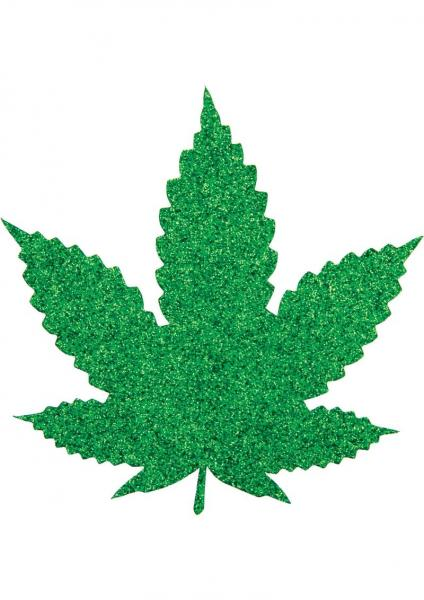 Pasties Mary Jane Marijuana Shaped Green 2 Pair