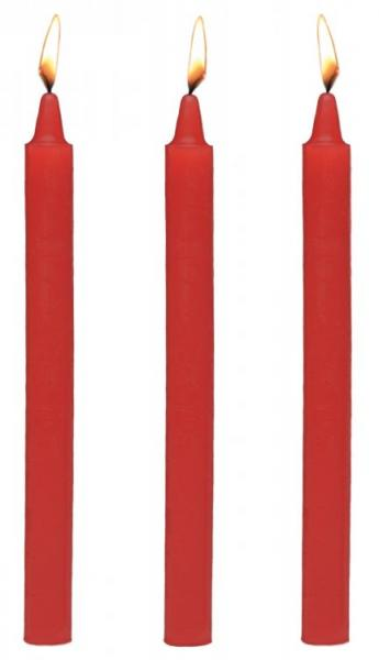 Master Series Fire Sticks Fetish Drip Candle Set Of 3 Red