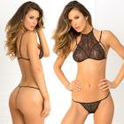 2pc Most Wanted Lace Bra & G-string Set Medium/large (black) Sex Toy Product