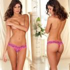Crotchless Lace V-thong F Purple M/l Sex Toy Product
