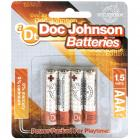 Doc Johnson Batteries AAA 4 Pack Sex Toy Product