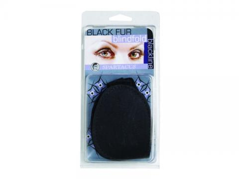 Fur Blindfold Black