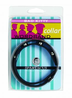 Wordband Collar Bad - Kitty - Black