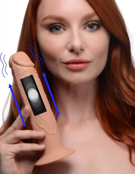 7x Remote Control Vibrating And Thumping Dildo - Medium Sex Toy Product