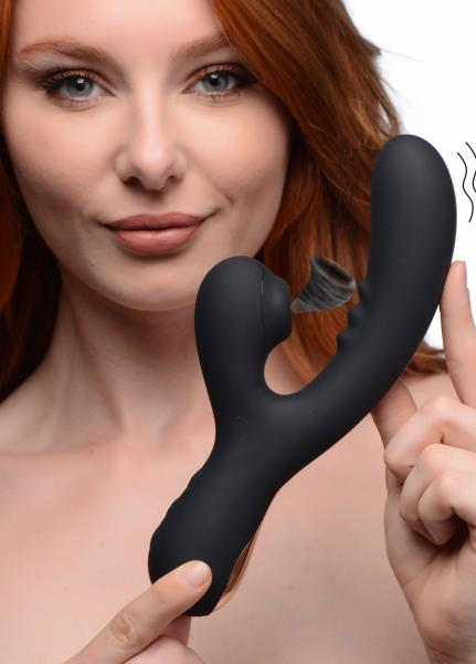 8x Silicone Suction Rabbit – Black